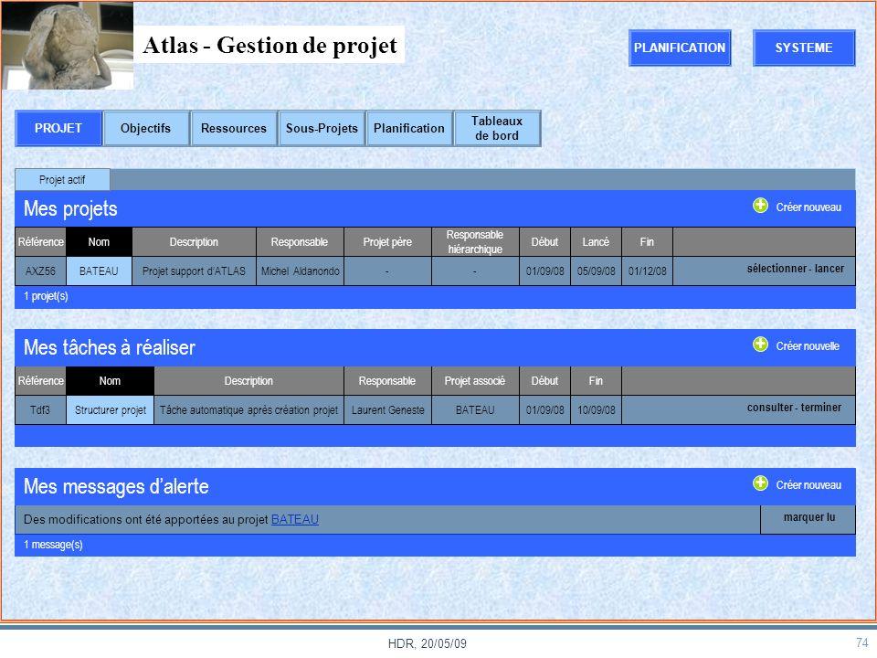 Atlas - Gestion de projet