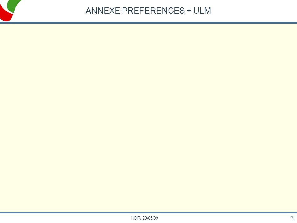ANNEXE PREFERENCES + ULM