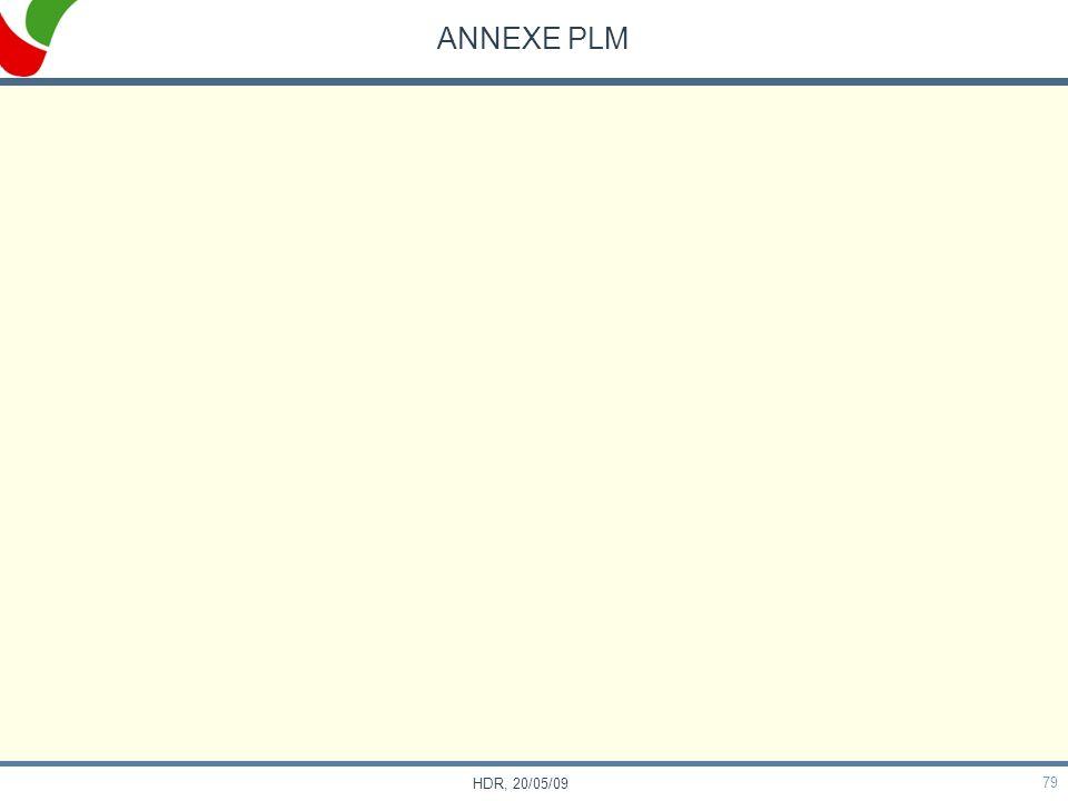 ANNEXE PLM HDR, 20/05/09