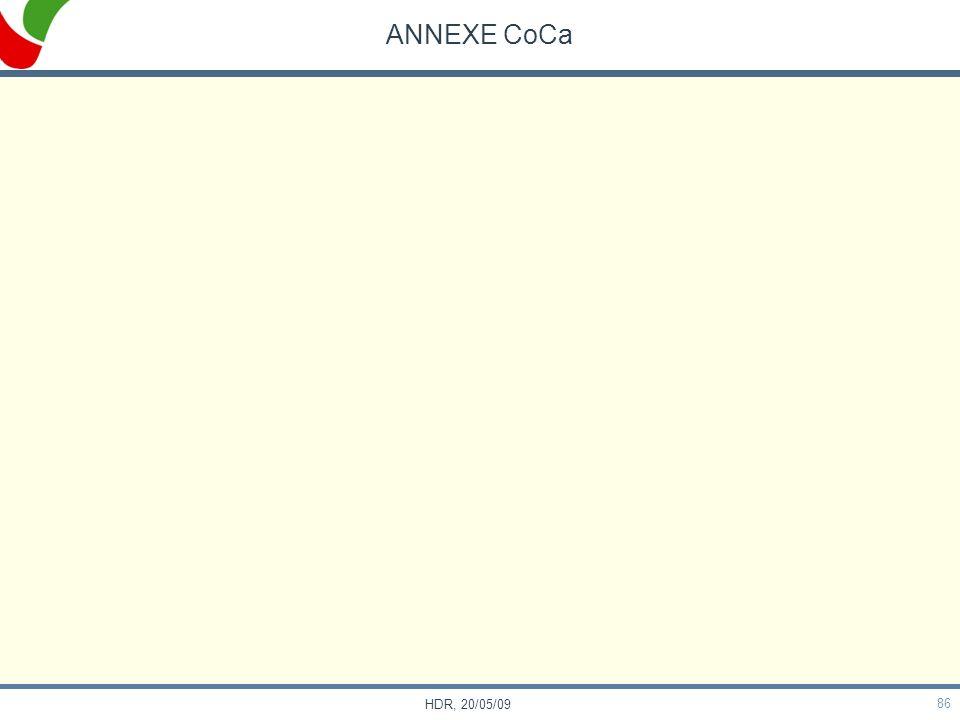 ANNEXE CoCa HDR, 20/05/09