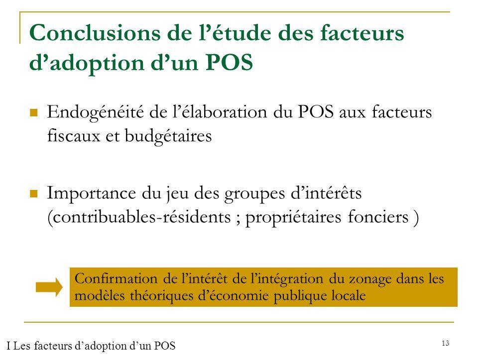 Conclusions de l'étude des facteurs d'adoption d'un POS