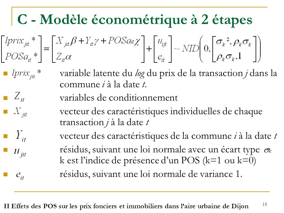 C - Modèle économétrique à 2 étapes