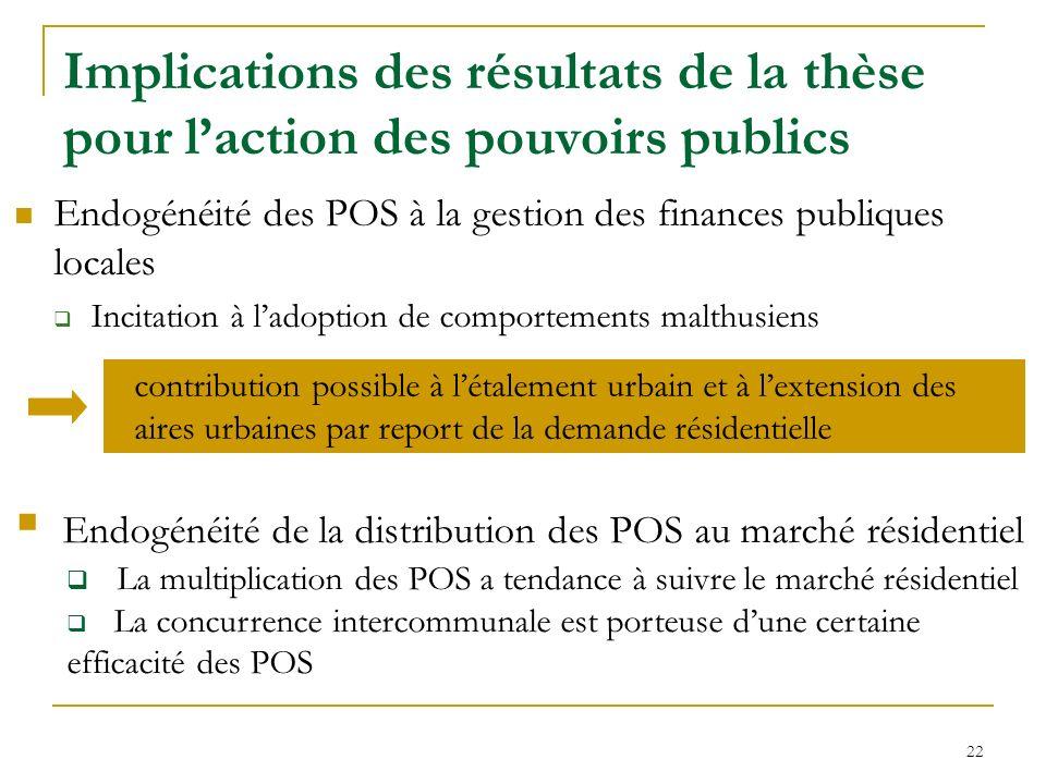 Implications des résultats de la thèse pour l'action des pouvoirs publics
