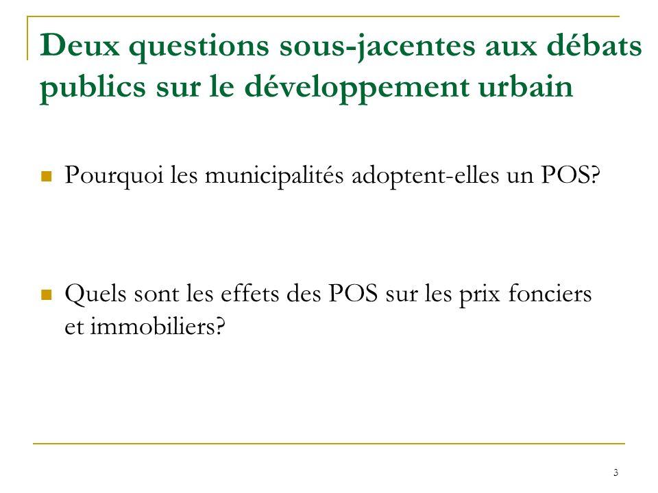 Deux questions sous-jacentes aux débats publics sur le développement urbain