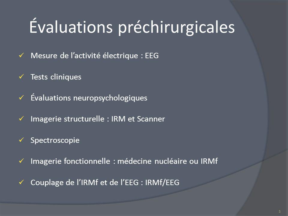 Évaluations préchirurgicales