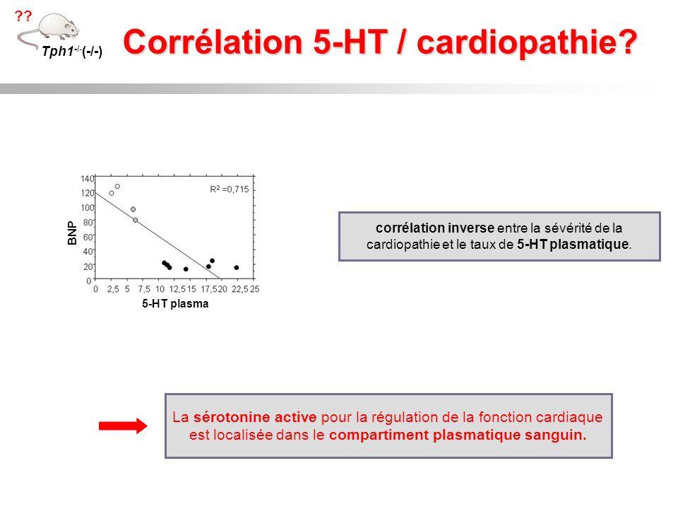 Corrélation 5-HT / cardiopathie