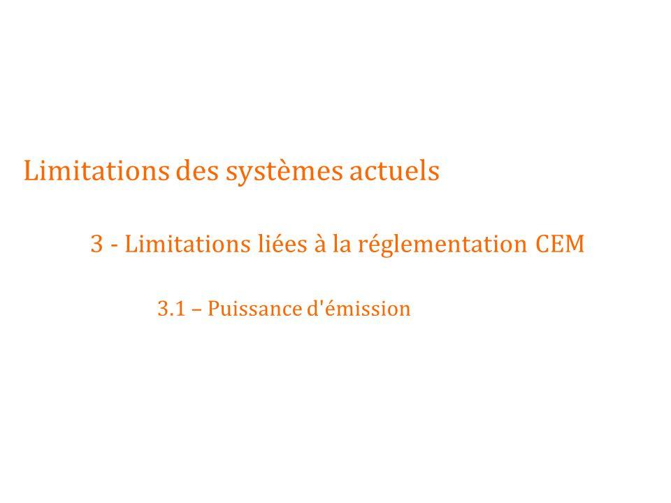 Limitations des systèmes actuels