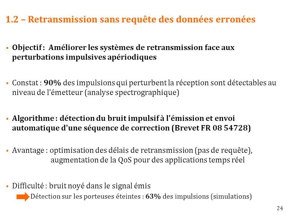 1.2 – Retransmission sans requête des données erronées