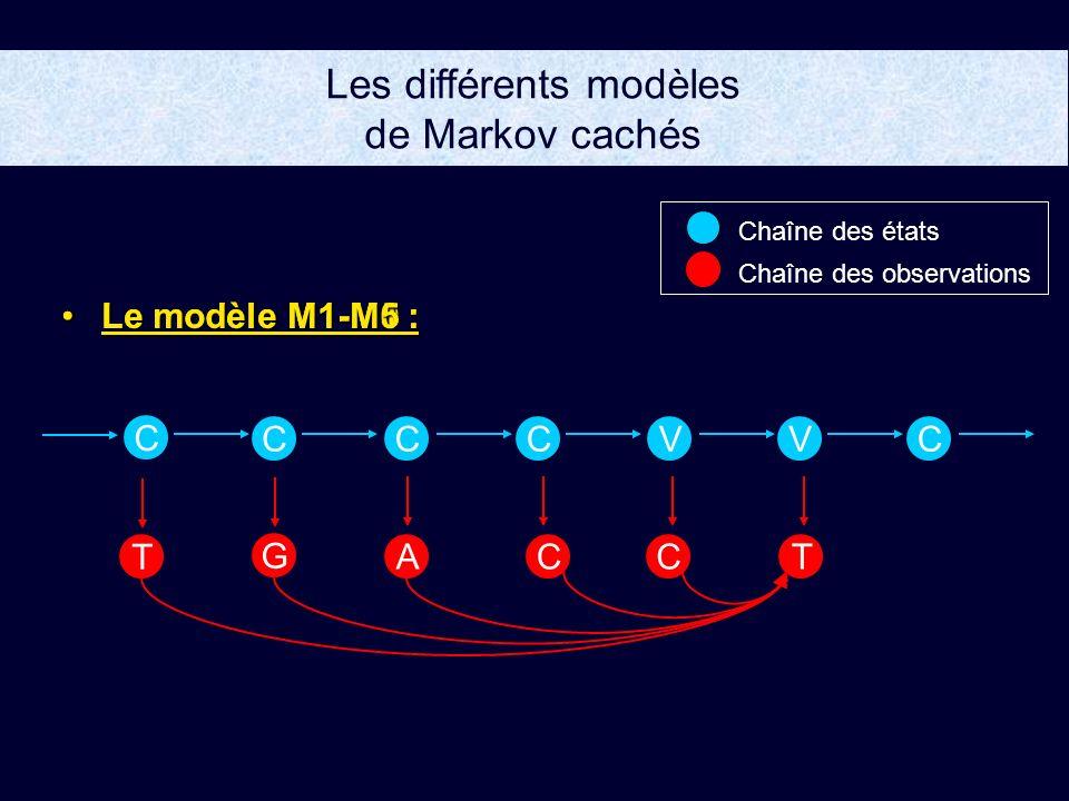 Les différents modèles de Markov cachés