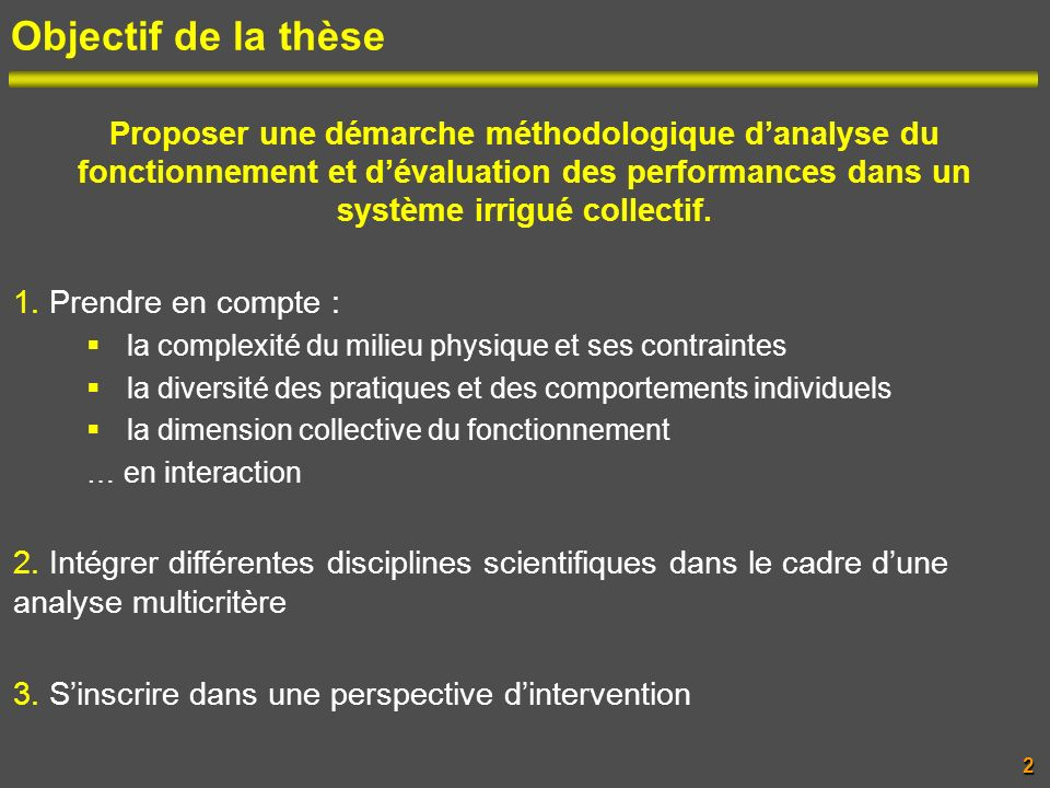 Objectif de la thèse