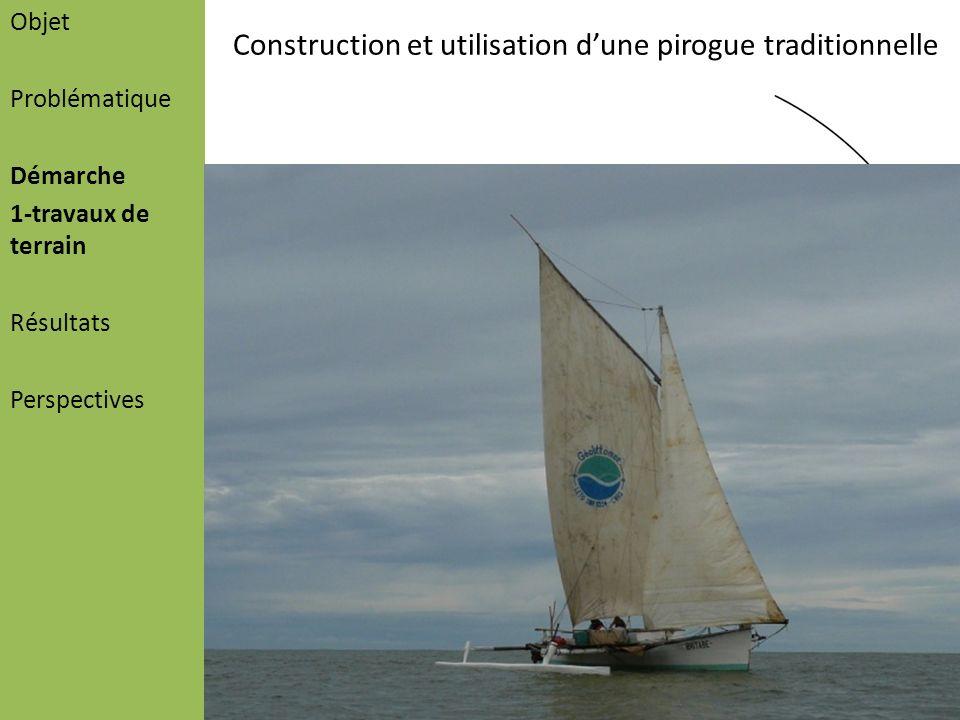 Construction et utilisation d'une pirogue traditionnelle