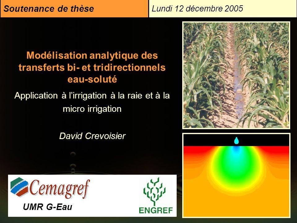 Soutenance de thèse Lundi 12 décembre 2005.