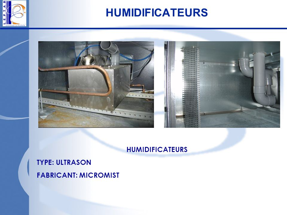 HUMIDIFICATEURS HUMIDIFICATEURS TYPE: ULTRASON FABRICANT: MICROMIST