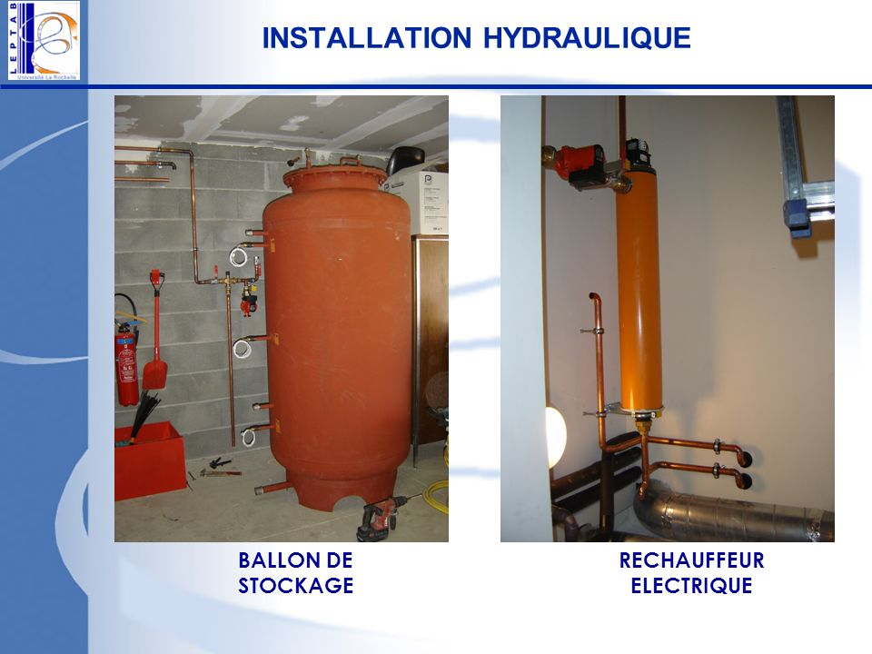INSTALLATION HYDRAULIQUE