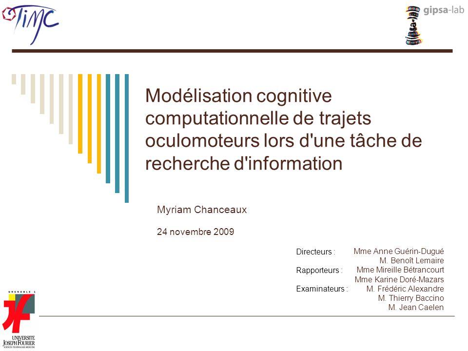 Modélisation cognitive computationnelle de trajets oculomoteurs lors d une tâche de recherche d information