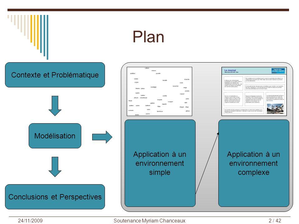 Plan Contexte et Problématique Application à un environnement simple