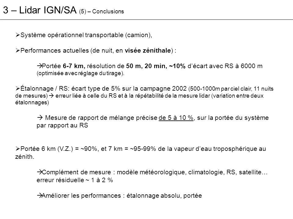 3 – Lidar IGN/SA (5) – Conclusions