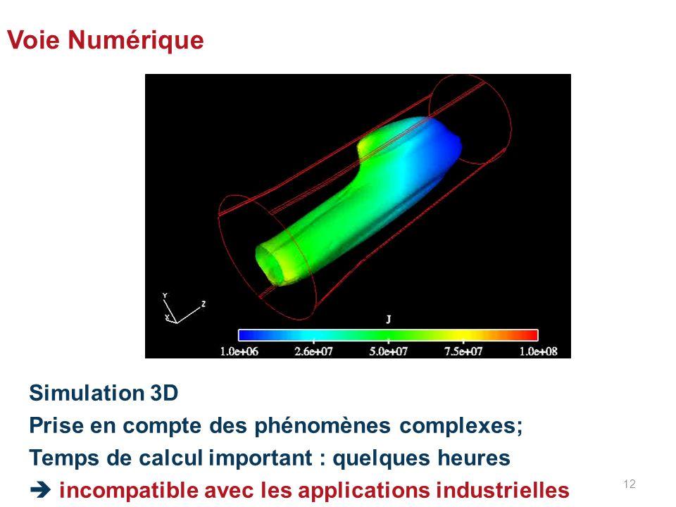 Voie Numérique Simulation 3D Prise en compte des phénomènes complexes;