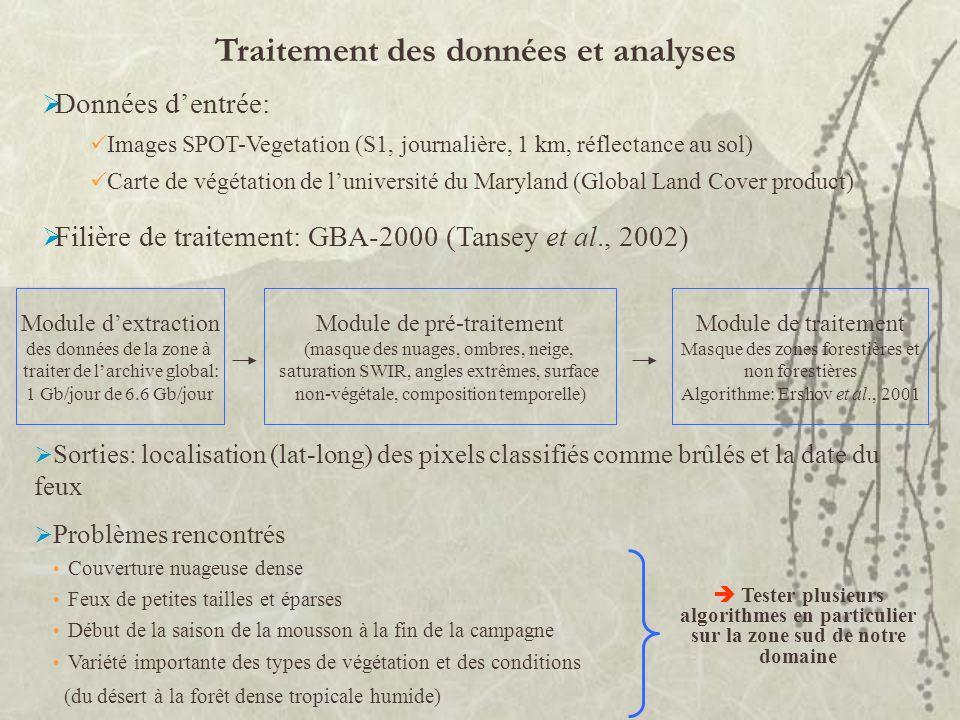 Traitement des données et analyses
