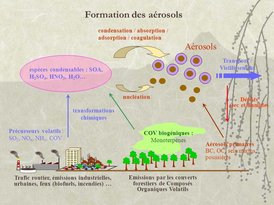 Formation des aérosols