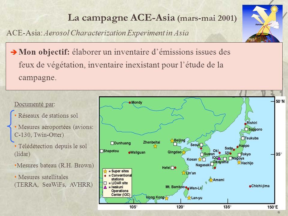La campagne ACE-Asia (mars-mai 2001)