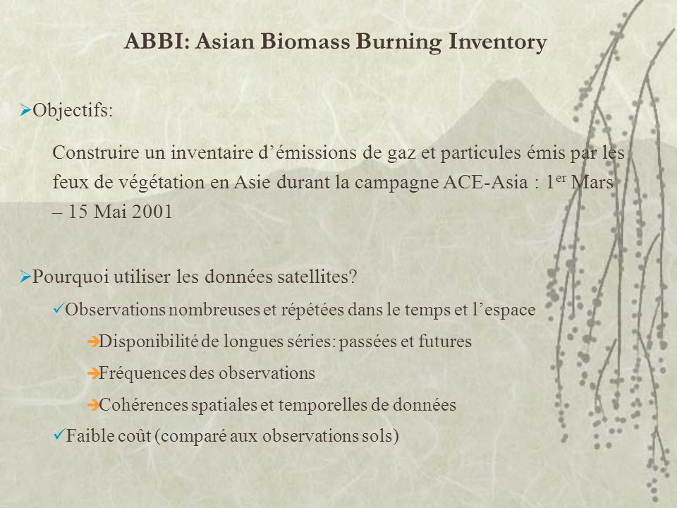 ABBI: Asian Biomass Burning Inventory
