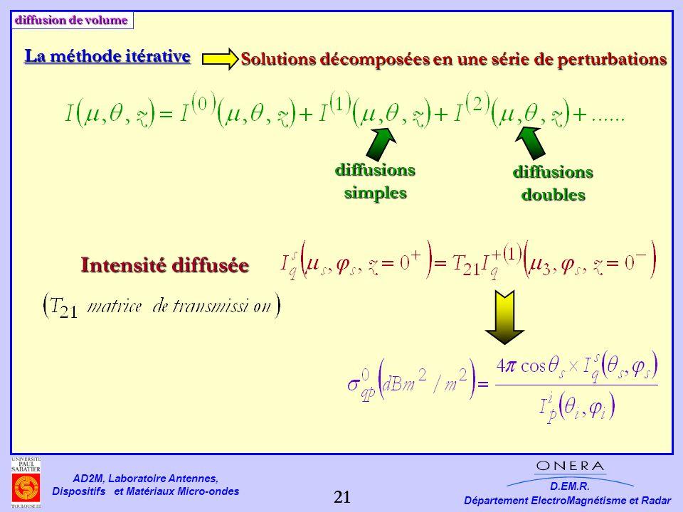 Solutions décomposées en une série de perturbations