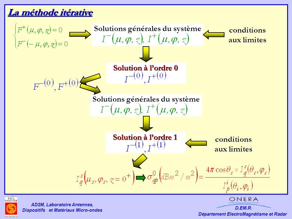 Solutions générales du système