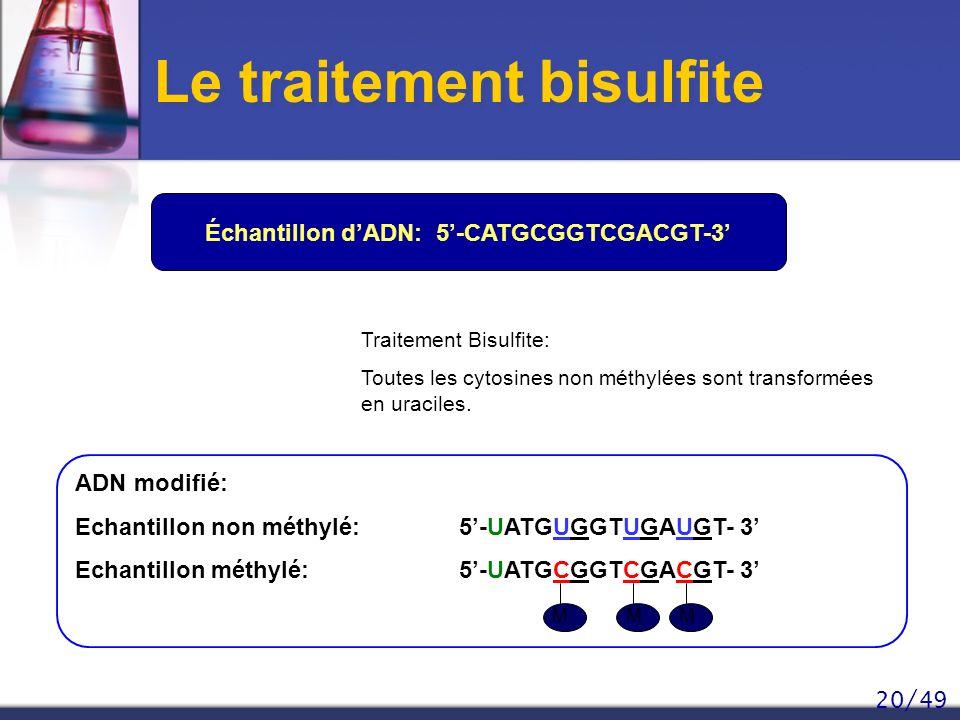 Le traitement bisulfite