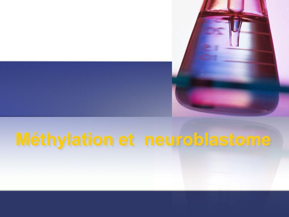Méthylation et neuroblastome