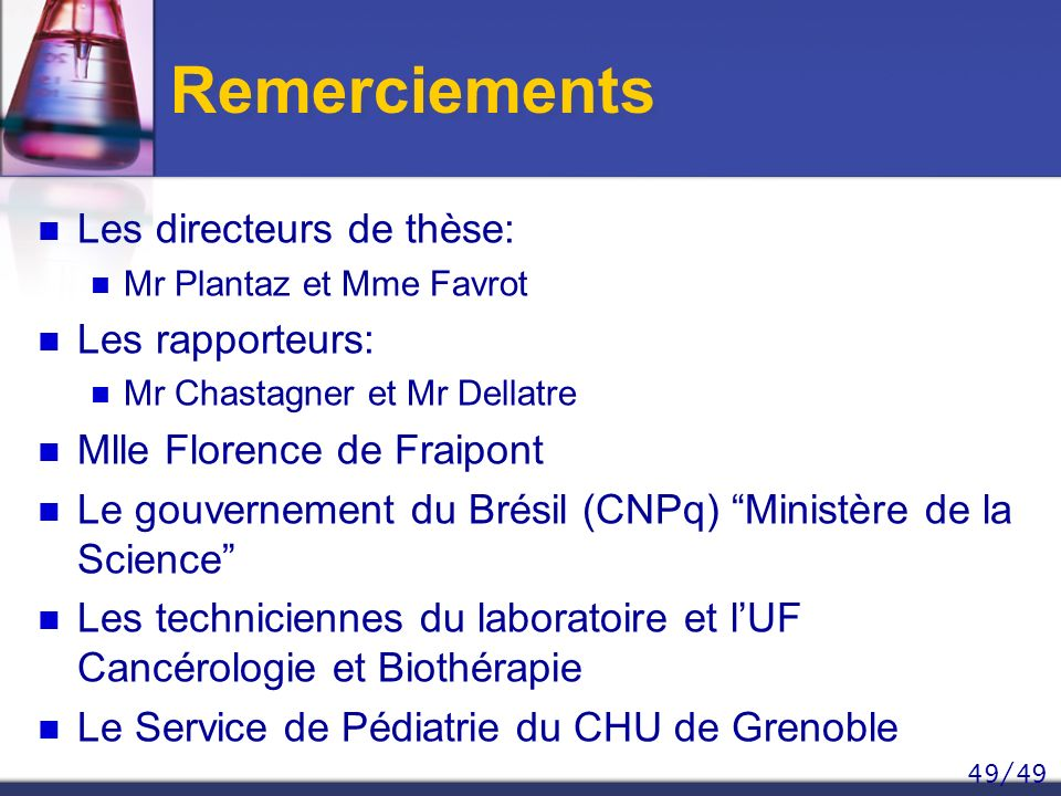 Remerciements Les directeurs de thèse: Les rapporteurs: