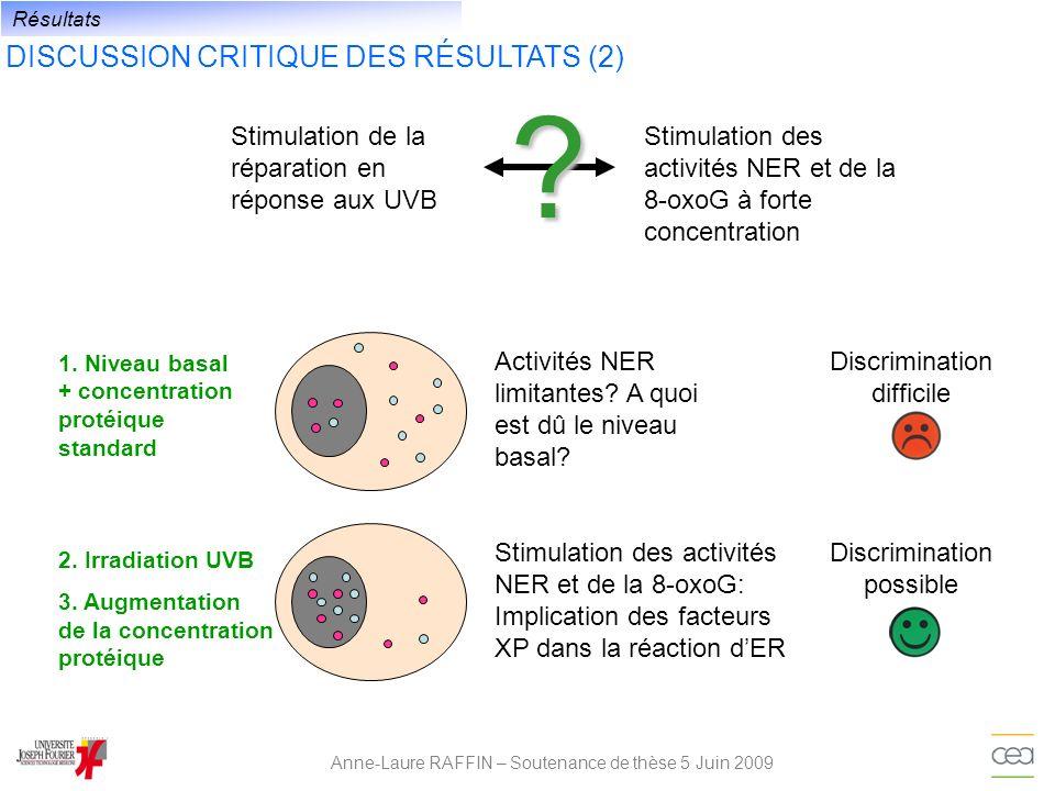 DISCUSSION CRITIQUE DES RÉSULTATS (2)