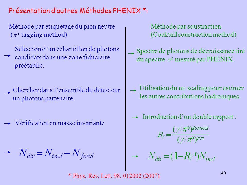Présentation d'autres Méthodes PHENIX *: