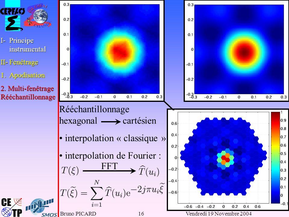 Rééchantillonnage hexagonal cartésien interpolation « classique »