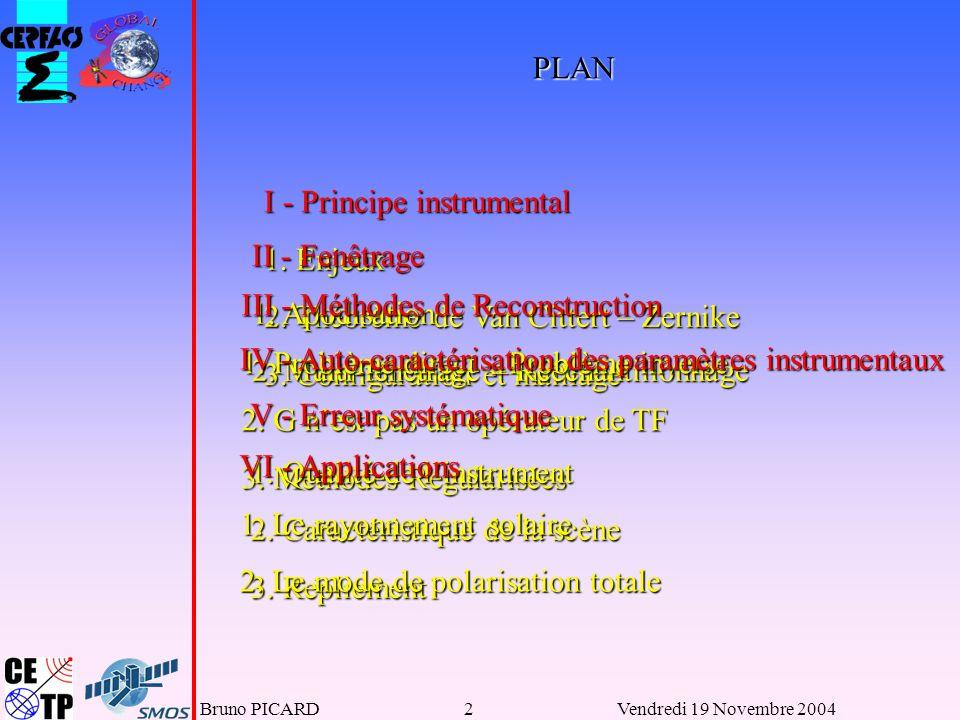 I - Principe instrumental 1. Enjeux