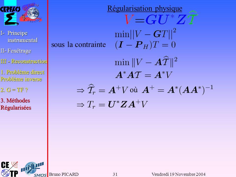 Régularisation physique