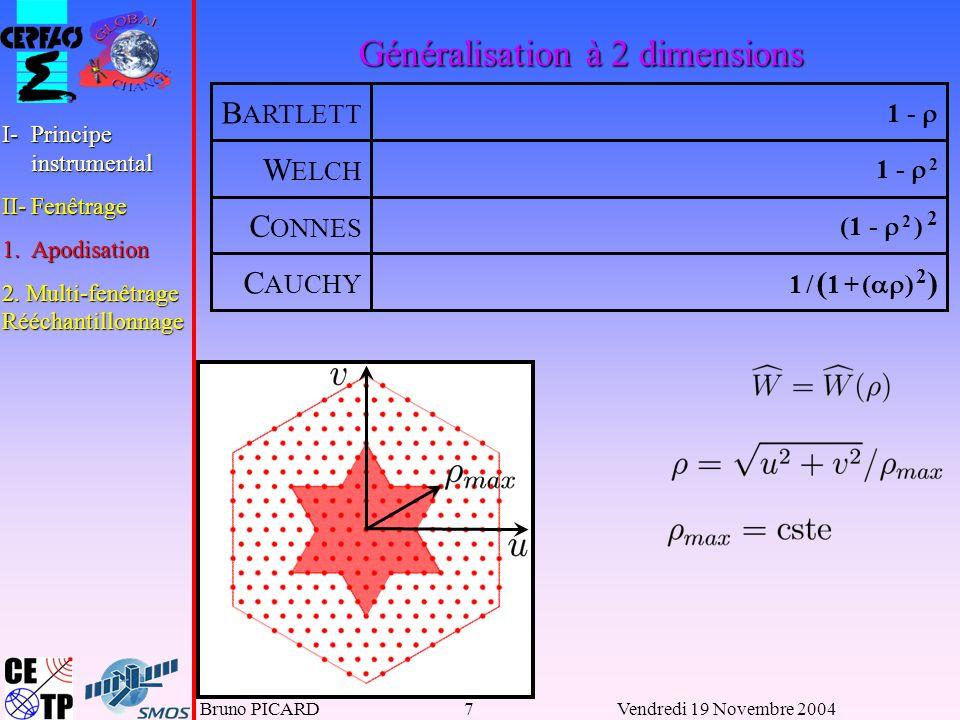 Généralisation à 2 dimensions
