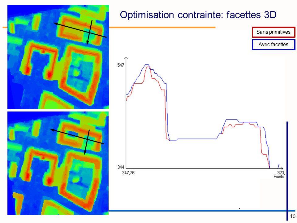 Optimisation contrainte: facettes 3D