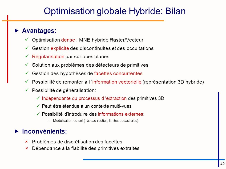 Optimisation globale Hybride: Bilan