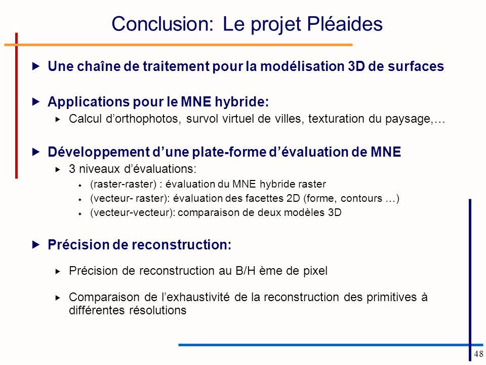 Conclusion: Le projet Pléaides