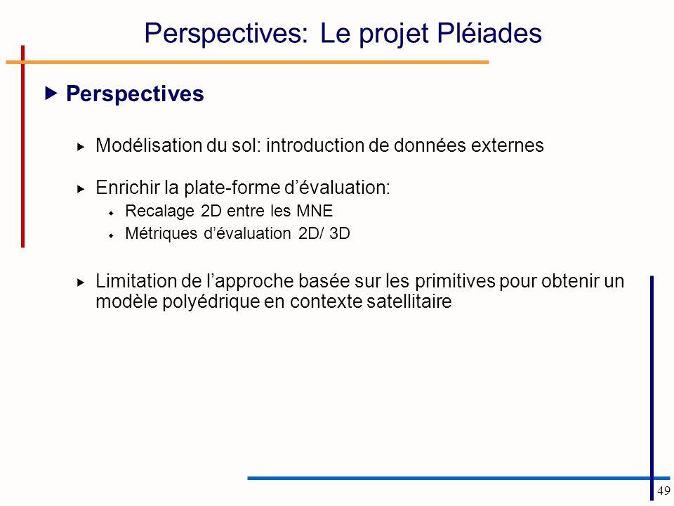 Perspectives: Le projet Pléiades