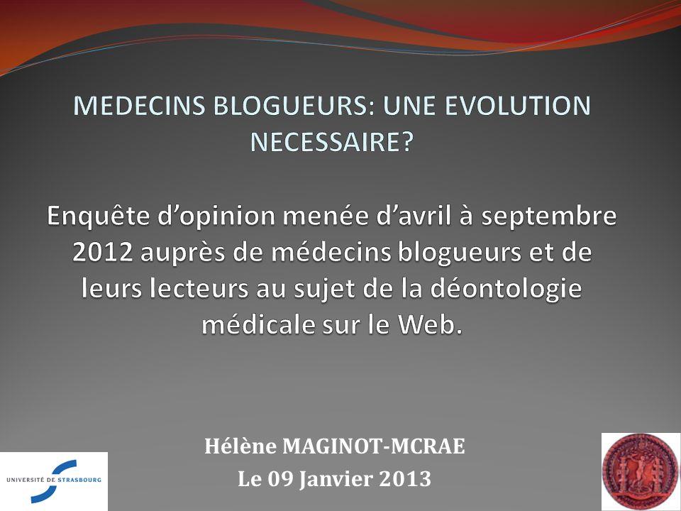 Hélène MAGINOT-MCRAE Le 09 Janvier 2013