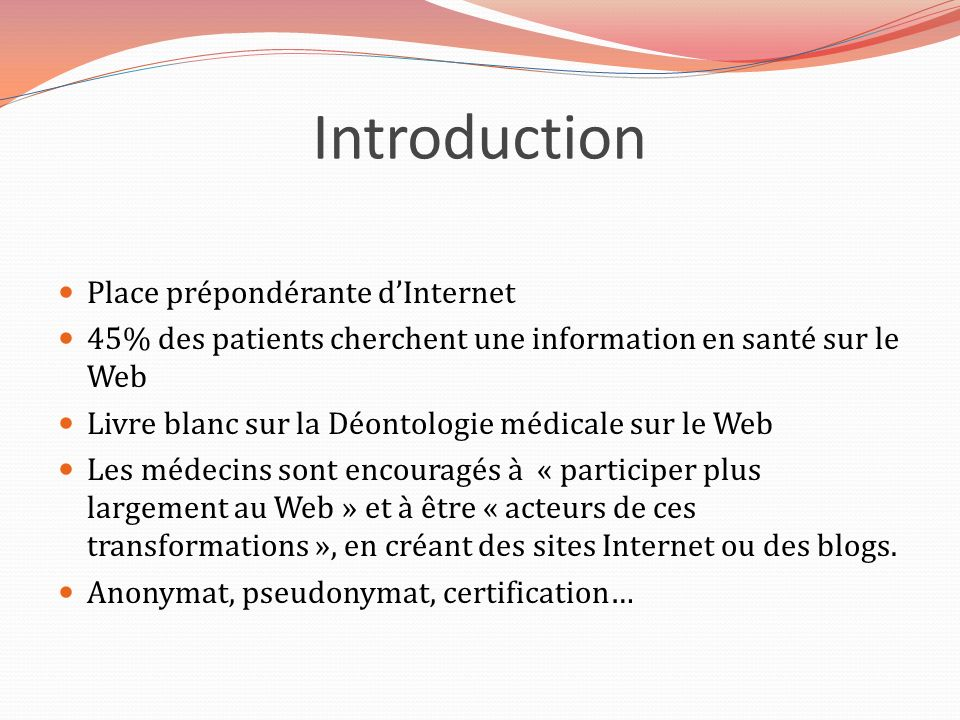 Introduction Place prépondérante d'Internet