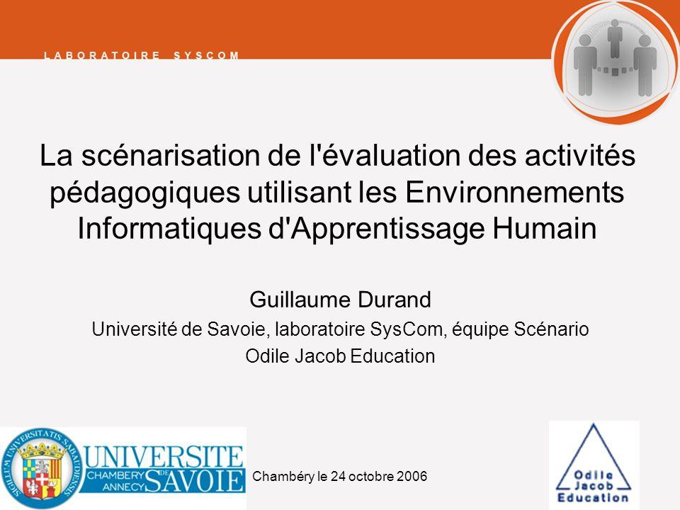 Université de Savoie, laboratoire SysCom, équipe Scénario