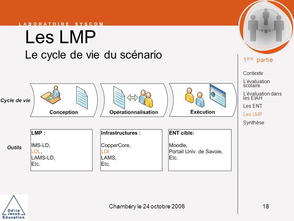 Les LMP Le cycle de vie du scénario