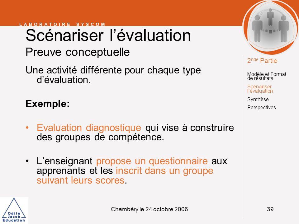 Scénariser l'évaluation Preuve conceptuelle