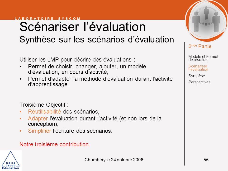 Scénariser l'évaluation Synthèse sur les scénarios d'évaluation
