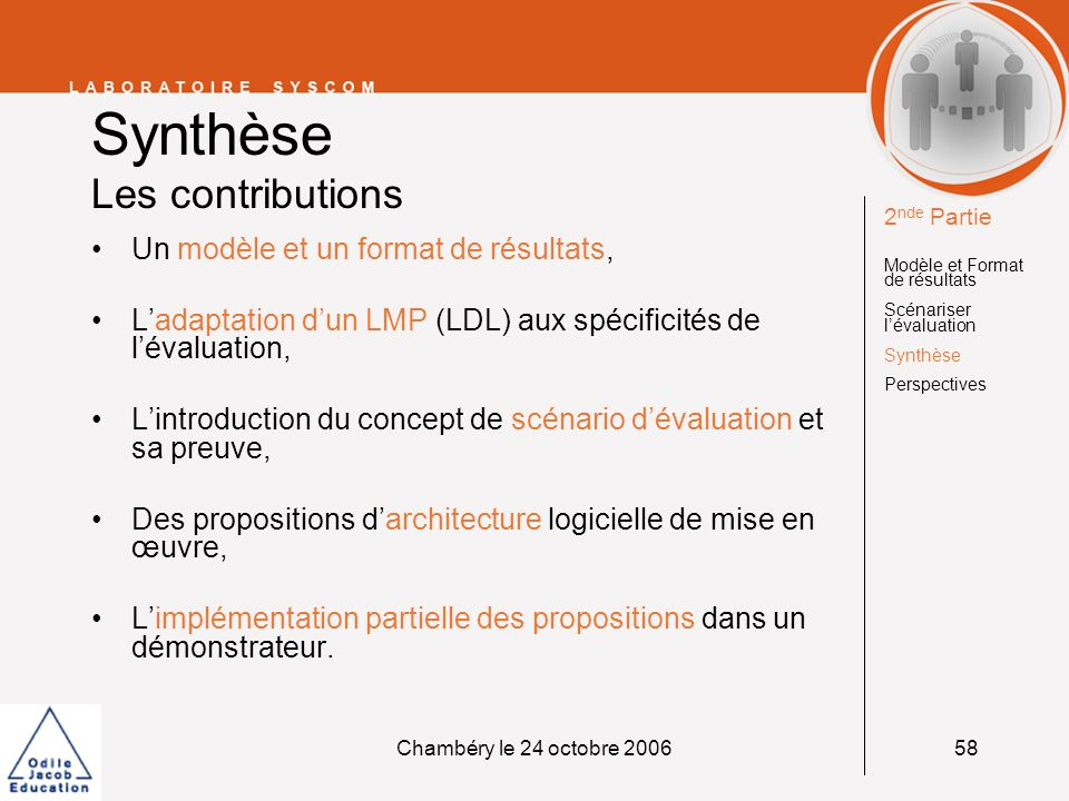 Synthèse Les contributions