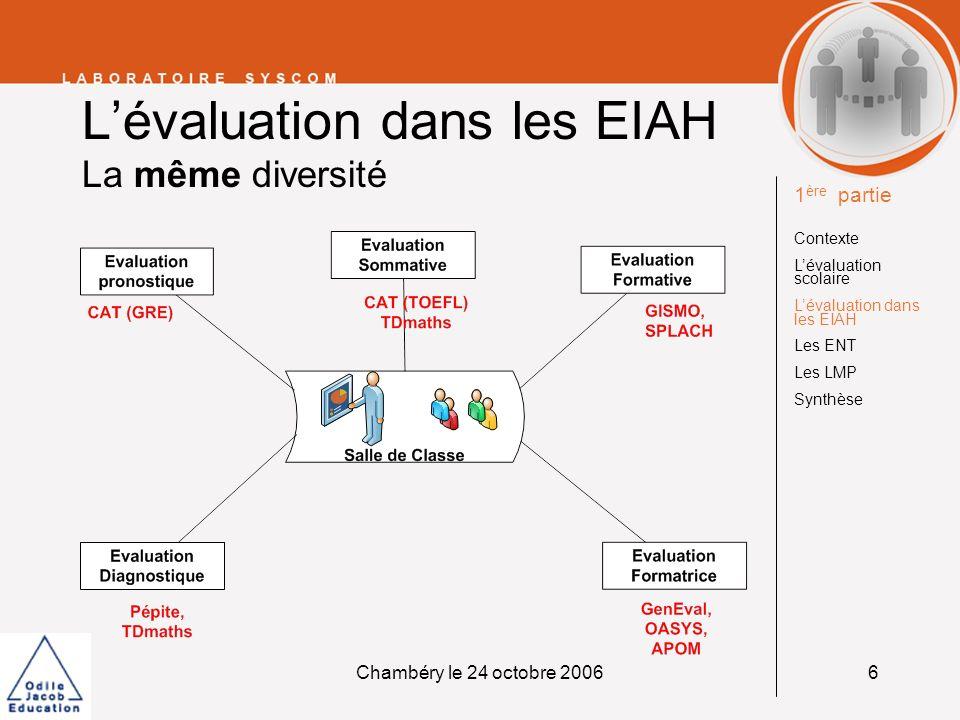 L'évaluation dans les EIAH La même diversité