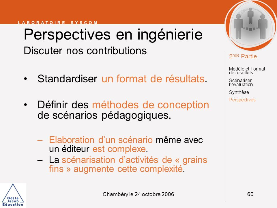 Perspectives en ingénierie Discuter nos contributions
